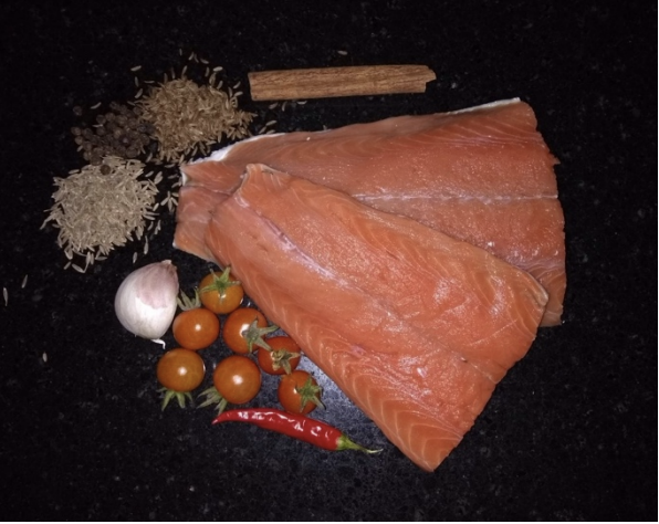 Salmon Steaks in Chraimeh Sauce