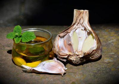 Garlic oil for earaches