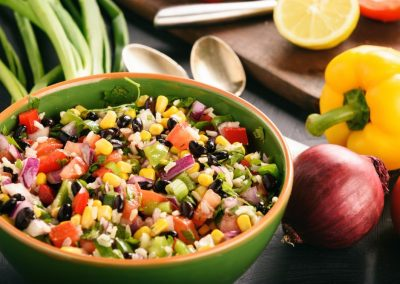 Barbequed Corn & Roasted Butternut Pumpkin with Black Beans